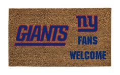 """New York Giants Lighted Coir Door Mat by Fans With Pride. $36.99. Weather-resistant. Non-fade colors. Withstands high traffic and wear. Features team logo and colors. 16"""" x 28"""". Our coir mats provide the perfect decorative accent for your front door, combined with the excellent ability to trap dust and dirt before it gets inside. The super-bright LED lights in this mat will stay illuminated for 60 seconds when the mat is stepped on. A unique way to display you..."""