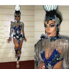 Image may contain: 2 people, people standing Carnival Outfits, Carnival Costumes, Girl Costumes, Dance Costumes, Led Costume, Samba Costume, Hot Outfits, Dance Outfits, Trajes Drag Queen