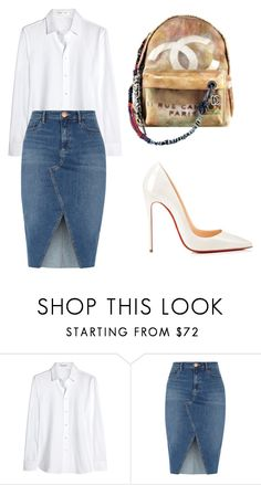 """""""BussinesWoman Style"""" by c-abrjolemmy ❤ liked on Polyvore featuring Yves Saint Laurent, Chanel, River Island and Christian Louboutin"""