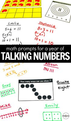 Number talks are the perfect way to build number sense and mental math strategies during Guided Math! These math task cards are ideas for math centers, interactive notebooks, and BUILD stations.