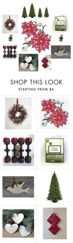 """Christmas Decor"" by keepsakedesignbycmm on Polyvore featuring interior, interiors, interior design, home, home decor, interior decorating, Avon, General Foam and vintage"