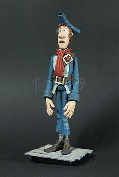 The Pirate with a Scarf-- Original Stop Motion Puppet from Pirates! Band of Misfits