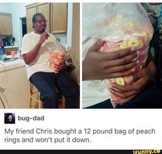 Picture memes 1 comment — iFunny My friend Chris bought a 12 pound bag of peach rings and won't put it down, – popular memes on the site Stupid Memes, Dankest Memes, Funny Memes, Funny Cute, The Funny, Hilarious, Camilla, Mario Memes, Oui Oui