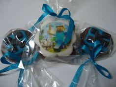 Pão de Mel e Pirulito de Chocolate Minecraft - Lembrancinhas - Party Favors - Wedding Favors - www.docemeldoces.com