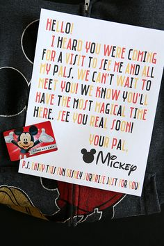 Free Printable Invitation for Disney World Trip Disney