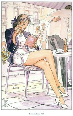Cover of Milo Manara | Erotic comic art #Italy #Artist #Girls #Illustrator @deFharo