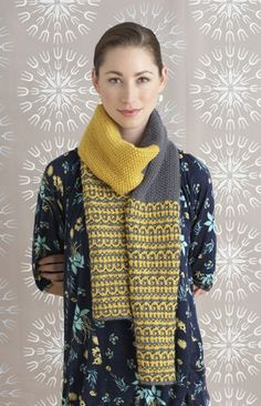 Free Pattern: Two-Color Tango Scarf