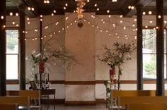 Rustic winter ceremony.  Chestnut & Vine Floral Design. Julie Mikos Photography