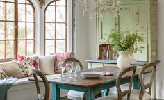 House Tour: A Lively Cottage Revival - House Tour | Wayfair. Love this style of table and chairs