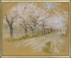 Robert Frederick Blum (American, 1857–1903). Spring Landscape. The Metropolitan Museum of Art, New York. Bequest of Susan Vanderpoel Clark, 1967 (67.155.6) #spring