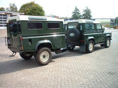 Landrover defender 90 with landrover trailer