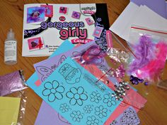 The Gorgeous Girly Card Kit contents