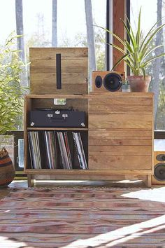 Wooden Media Console  - Urban Outfitters