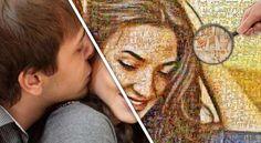 Mosaik Poster  Fotoalbum war gestern – ab heute gibt es alle Erinnerungen auf einen Blick!