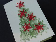 Another beautiful Xmas tree using a snowflake punch.