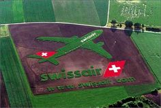 """""""Crop Circle"""" ads for swiss air #PrintAd #Advertising"""