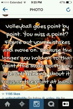 I really think all volleyball players should read this:) Volleyball Jokes, Volleyball Motivation, Volleyball Training, Volleyball Workouts, Coaching Volleyball, Volleyball Pictures, Volleyball Players, Volleyball Practice, Volleyball Ideas