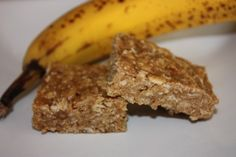 Banana protein bars - I finally found a homemade protein bar recipe I like! I used coconut palm sugar and added 1/4 cup coconut oil as the mix was very thick. Line your pan with parchment paper for no mess and easy removal of bars. 1/8 recipe (my version) = 12g protein.