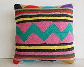 Large Decorative Pillow Large Throw Pillow Large Kilim Pillow Large Turkish Cushion Large Decorative Throw Outdoor Floor Euro Sham Big 20x20