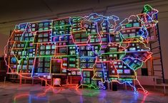 Artist: nam june paik closed circuit video installation, neon, steel and electronic components Weekend In Dc, Girls Weekend, Nam June Paik, Powerful Art, Video Installation, Time Activities, Feminist Art, Arts And Crafts Supplies, Student Work