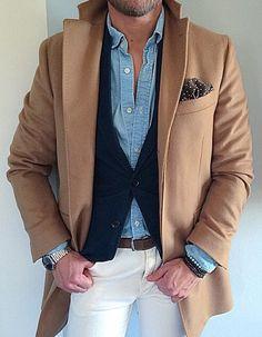 """men's fashion - Adoro essa maneira de se vestir em """"camadas""""...homens ficam lindos!"""