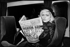 Blondie On a train, late '70s - The Cut