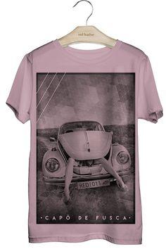 Camiseta Masculina com estampa de mulher