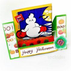 Maratona di #tutorial in vista di #halloween !   Un altro bigliettino per augurare #happyhalloween con un #fantasmino !  Il tutorial per realizzare questa center step card lo trovate sul mio canale #youtube a questo link: https://youtu.be/XH-dP0SNjsI I miei disegni da colorare invece sono sul vecchio blog: http://ift.tt/2dHyx2I Buon divertimento !! . . #archidee #becreative #bepositive #card #scrapbooking #scrap #ghost #handmade #supporthandmade #instatutorial #youtuber #diy #cardboard…