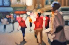 Hot and Blurry Summer Paintings of the City by Philip Barlow.