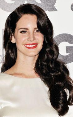 Lana Del Rey's luscious dark locks / Photo by Keystone Press - Reception Hair