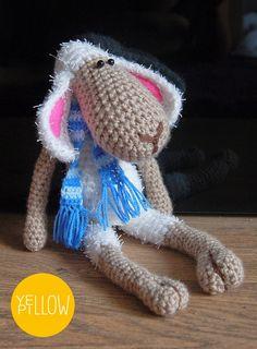 crochet sheep Crochet Sheep, Crochet Hats, Yellow Pillows, Knitting Hats, Yellow Throw Pillows