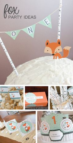 Adorable fox party ideas - Mr. Foxy Fox and Miss Foxy Fox party themes #BigDot