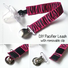 DIY Pacifier Leash with Removable Clip Tutorial