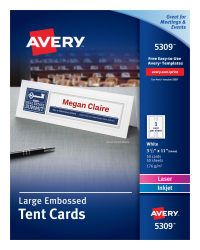 Template For Avery 5302 Small Tent Cards 2 X 3 1 2 Avery Com Avery Printable Tent Cards Avery Labels