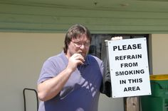 One of our past times is to take pics of Buddy vaping by non smoking signs.