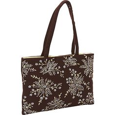 Moyna Handbags Wool Embroidered Bag Brown - Moyna Handbags Fabric Handbags