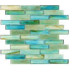 Tropical Turquoise Green Glass Tile