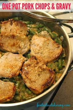 One Pot Pork Chops Gravy No Need To Dirty A Million Dishes This