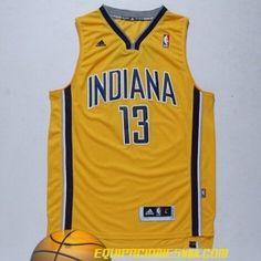 Adidas Camiseta Indiana Pacers George #13 amarillo nueva pano €19.99