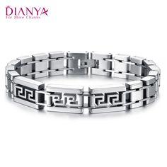 Domineering bold trend of men's fashion bracelet bracelet titanium jewelry jewelry the Great Wall pattern GS739