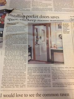 Nice option is wide ADA pocket door with frosted glass for the downstairs master