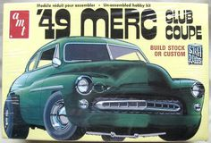 AMT 1/25 1949 Mercury Club Coupe - Stock or Custom, T291 plastic model kit
