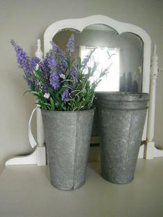 Metal buckets wedding decor galvanized buckets shabby chic sap buckets rustic decor garden wedding