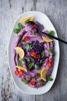 Houmous violet - 100 % Végétal | Cuisine vegan