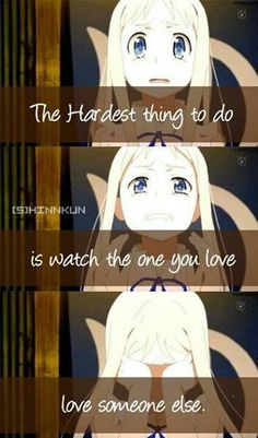 Anohana. Anime - quote