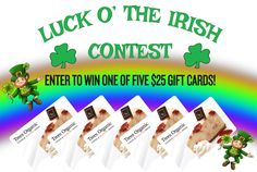 In the lead-up to St Patrick's Day, we're getting into the celebratory spirit with a Luck O' The Irish Contest at our Trees Organic Coffee cafes in five Vancouver locations. Drop by any or all the cafes to enter to win one of five $25 #TreesOrganic gift cards. Contest closes March 17. More info: http://treescoffee.com/blog/2017/03/luck-o-the-irish-contest/