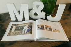 neat guestbook table