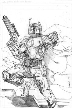 Boba Fett by Kevin-Sharpe.deviantart.com on @deviantART