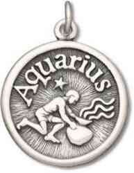 Aquarius Water Bearer Friendly Zodiac Horoscope Symbol Charm