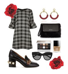 """""""superrr"""" by kelebek09 ❤ liked on Polyvore featuring River Island, Gucci, Karen Millen, Givenchy, Butter London and Le Specs"""